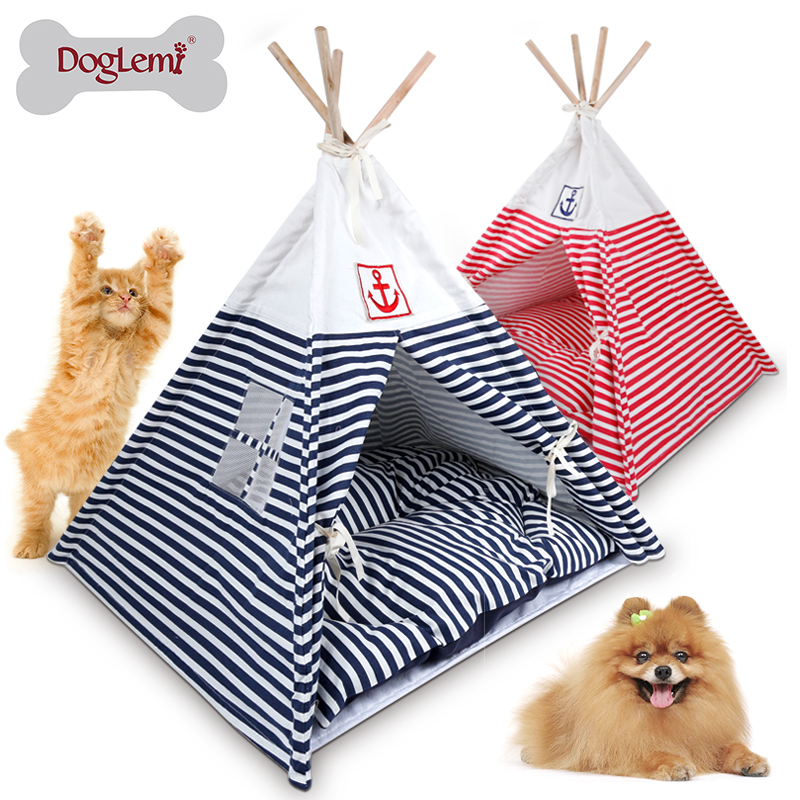Indiano Pieghevole woden cat house Pet Tenda Cane Gatto Canile Nido Casa di Legno Pet Puppy Igloo