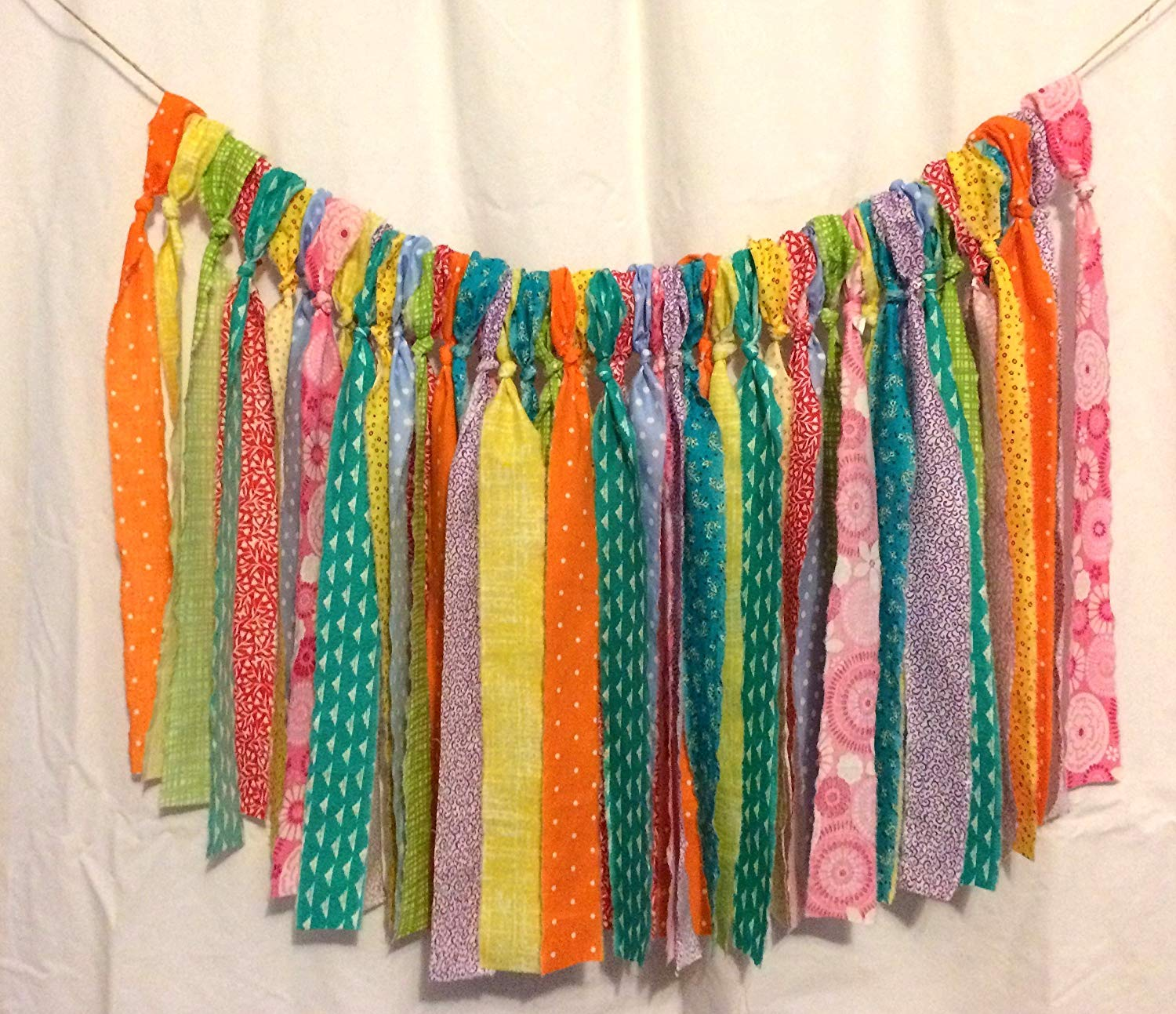 Multi Color Hippie Valance Curtains (RV, Camper, Glamping, Van, Colorful Banner, Party Decor, Highchair Banner, Photo Prop, Wall Decor, Mantle)