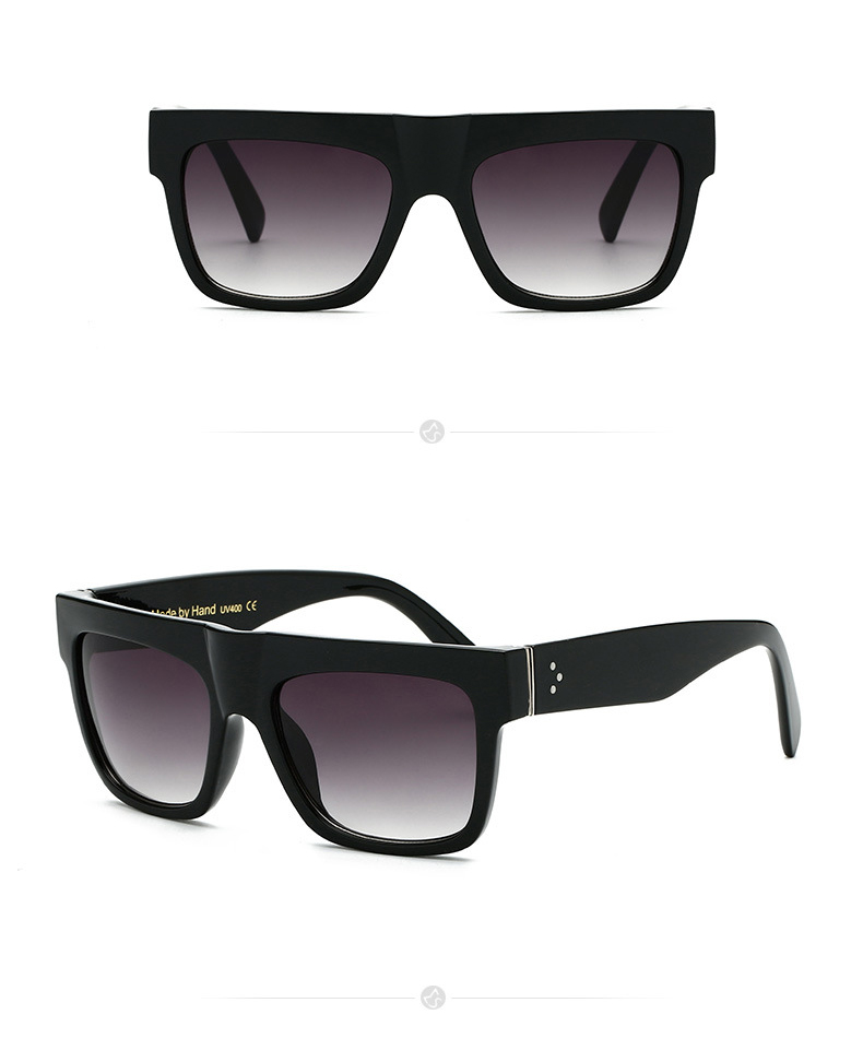 New Fashion Vintage Stylish Big Face Unisex Metal Hinge Square Women Mirrored UV400 Hand Made Sunglasses