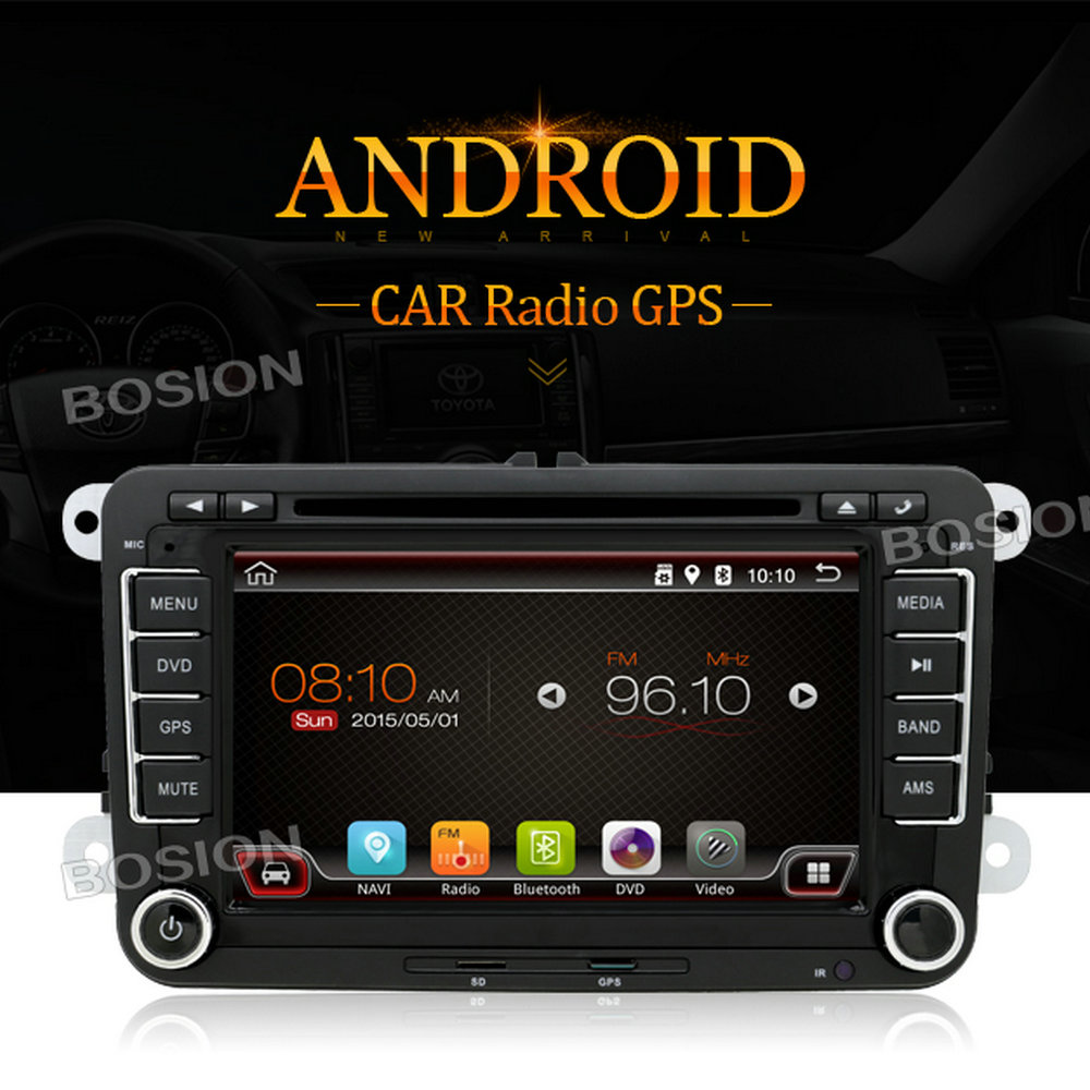HD Touch Screen Android 4.4.4 Car Stereo for VW Golf MK4 Dashboard with 3G Wifi Radio Bluetooth