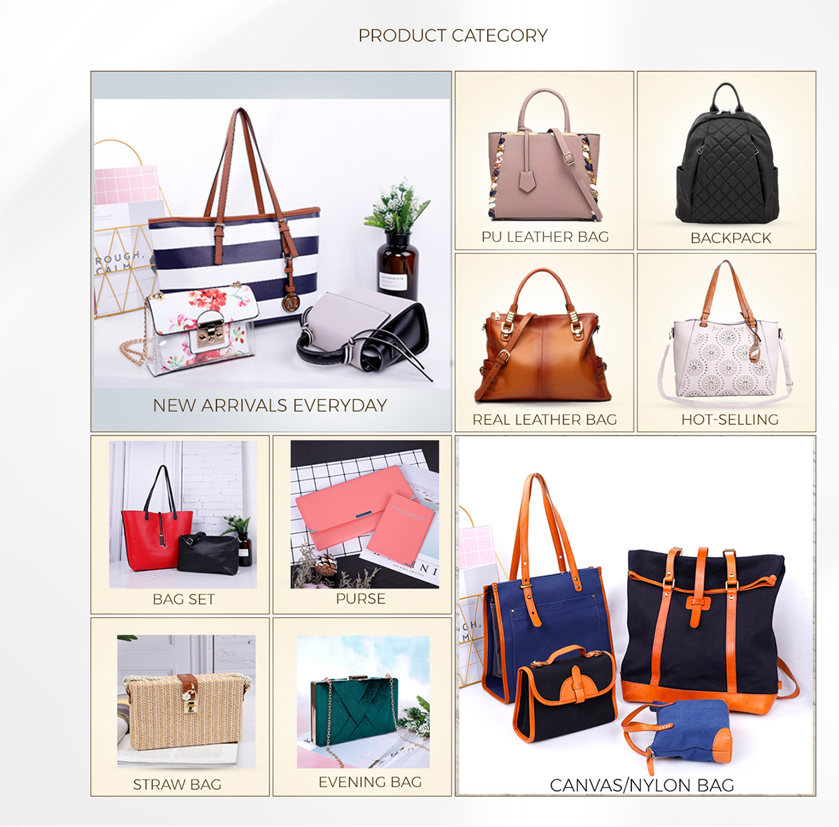 94881a6751 Evergreen---The most prestigious Handbag Supplier in Guangzhou,China.With  18 years experience, Customers including GIORDAON-Asia, BELLA-New Zealand,  ...