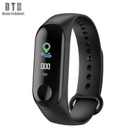 2019 High Quality Heart Rate Monitor IP68 Waterproof band Bluetooth Smart Bracelet M3c