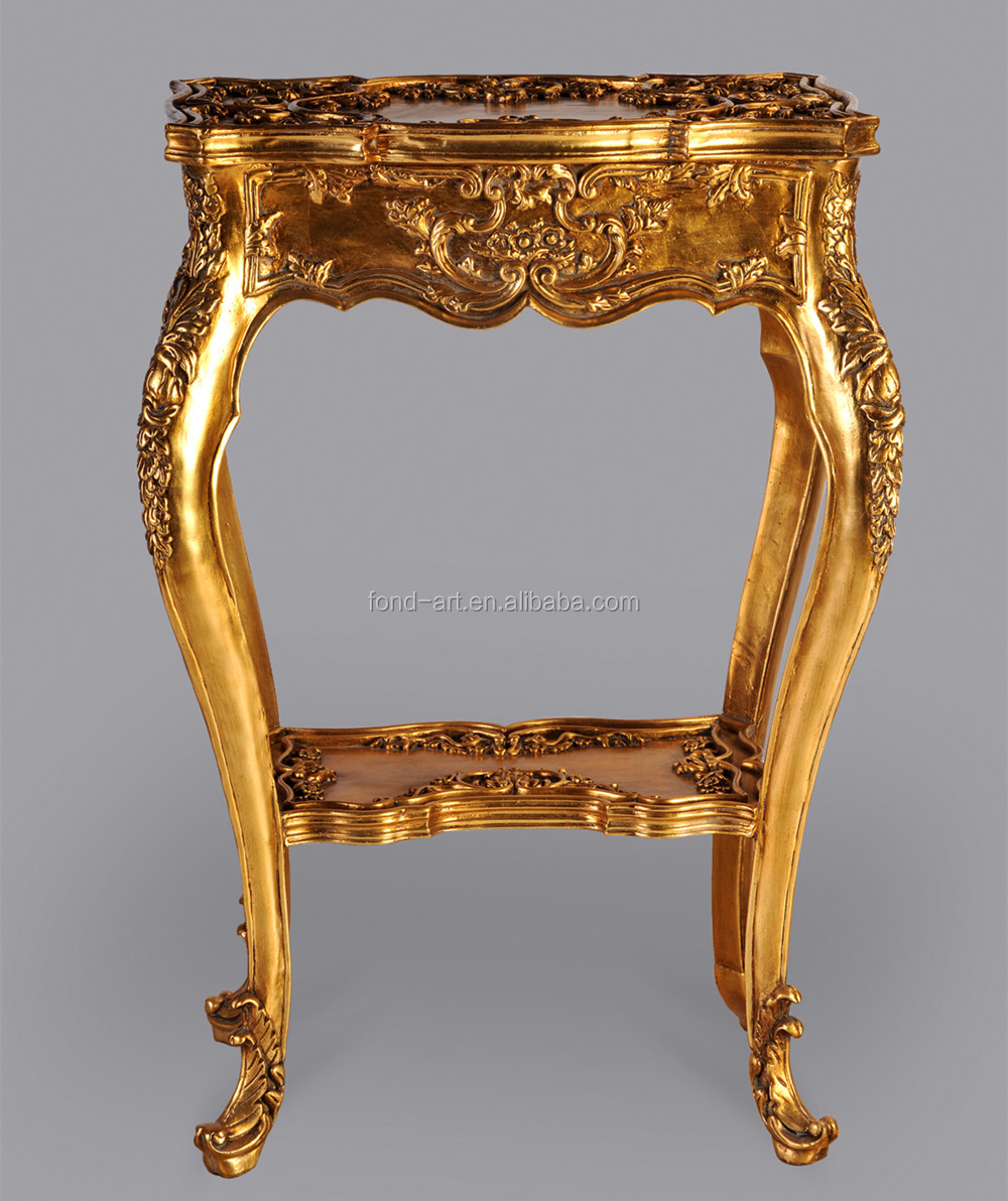 2604 European Style Antique Gold Side Table China Manufacturer