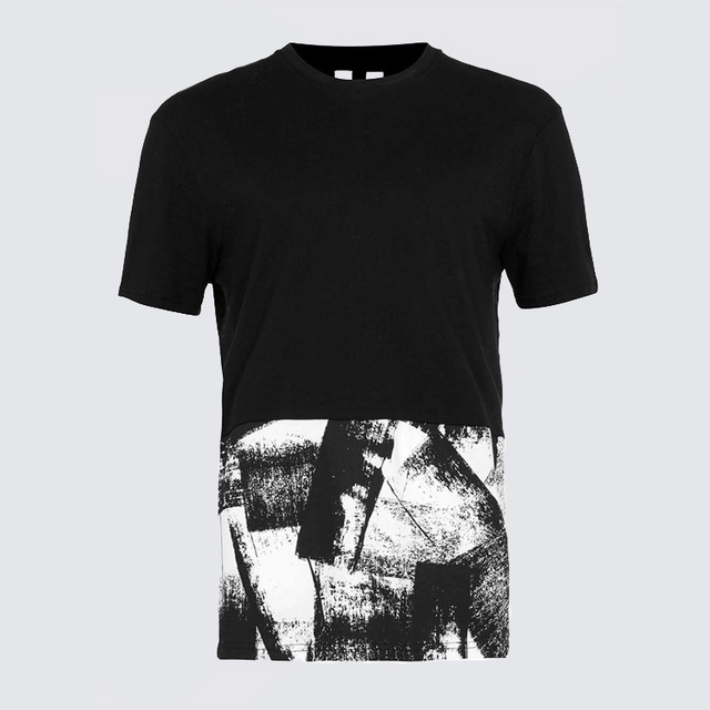 Cool t shirt digital printed for young man clothing, cut and sew men's t-shirt printing