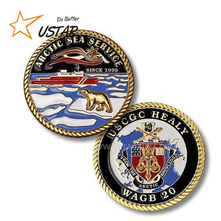 Factory Wholesales Custom New Design Personalized Military Wedding Coins, Super Quality Navy Chief Made Challenge Coins