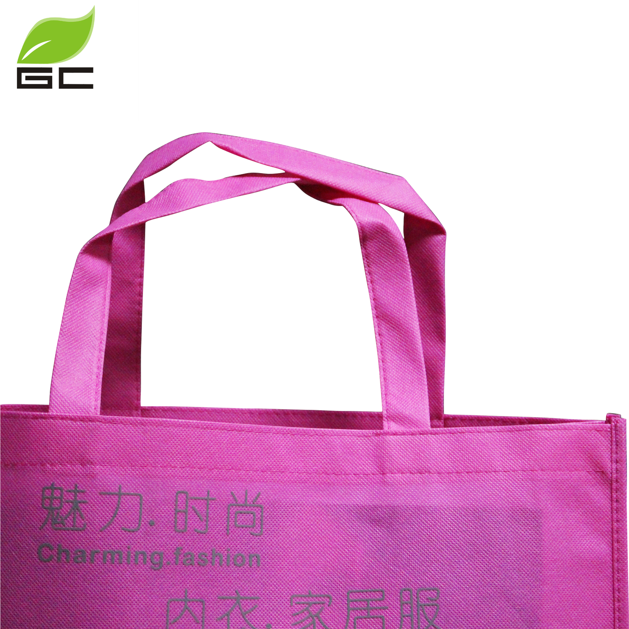 Eco Recycle Custom Plastic Non Woven Fabric Tote Shopping Bags With Custom Printed Logo