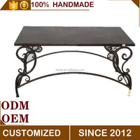 European iron picnic square large outdoor table furniture