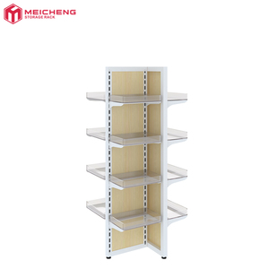 Supermarket and convenience store promotion rack Environmental protection material Steel and wood combined shelves