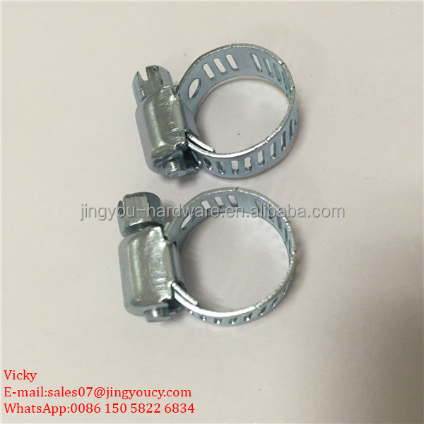 "12-19mm 3/4"" G clamp galvanized steel matel american type pipe hose clip cixi jingyou manufacture"