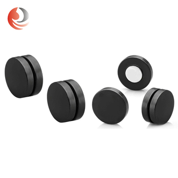 stainless steel black piercing jewelry men magnetic stud