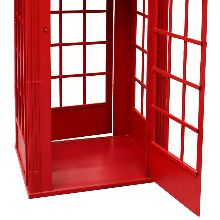 Antique Telepon Booth Disesuaikan London Umum Dekorasi Outdoor (SDMC2019) Warna Merah Telepon Booth