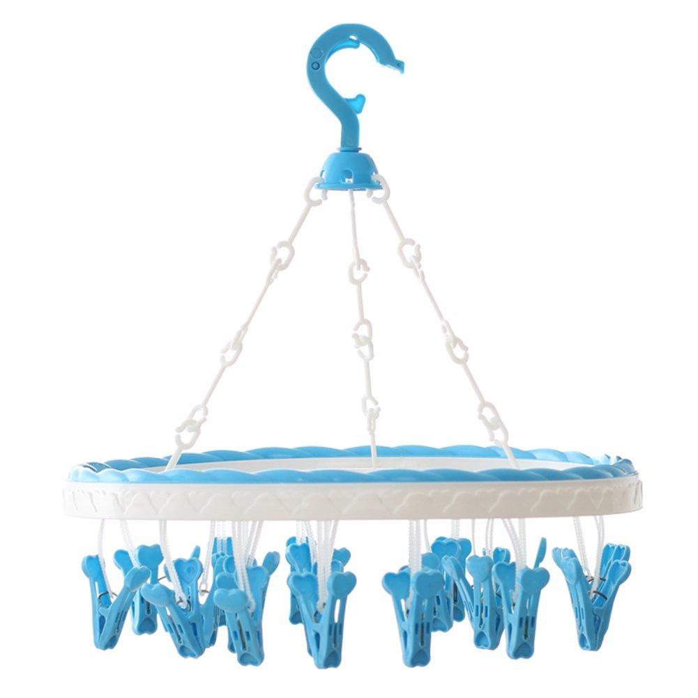 Coat hanger/ drying rack/Clip diaper underwear towel racks/ plastic multifunctional windproof coat hanger-A