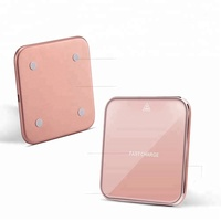 Zinc Alloy Square Holder Car Mounted Qi Wireless Inductive Charger