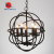 Vintage iron art black dining room pendant light