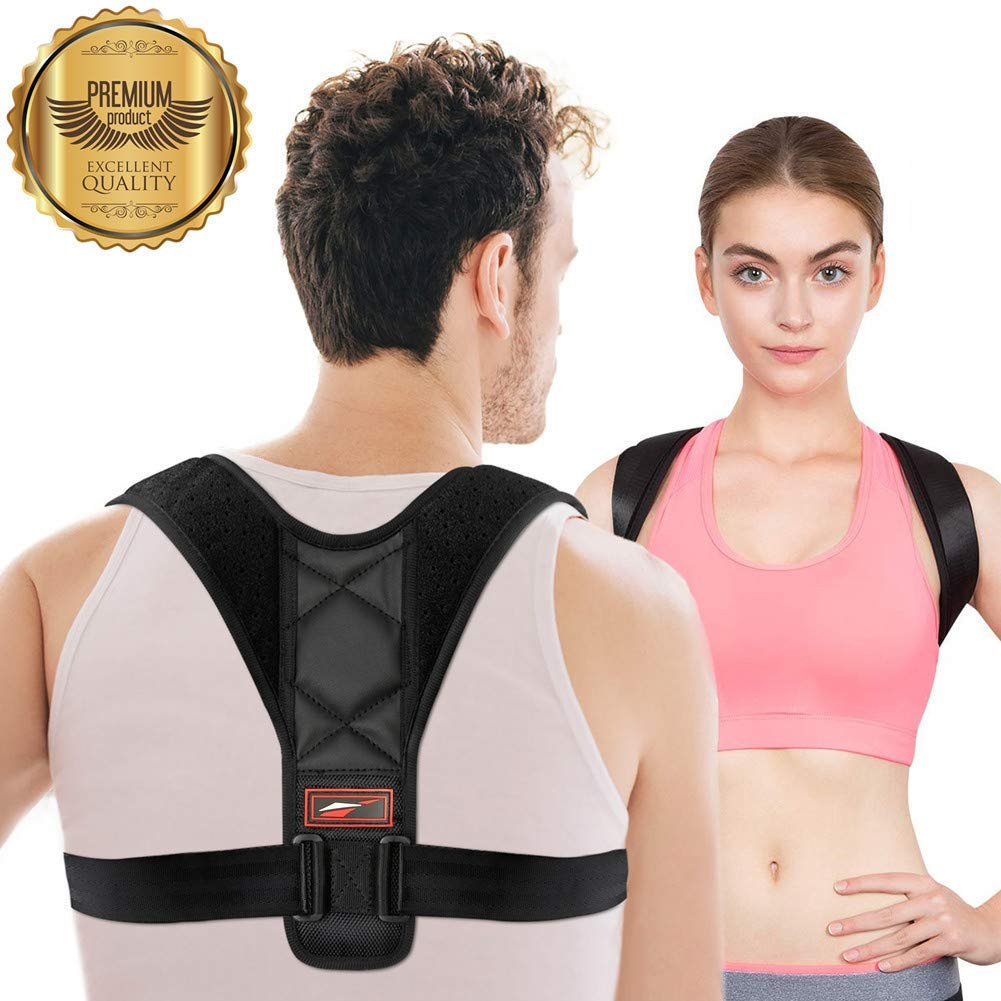 Get Quotations · Posture Corrector for Women Adjustable Men Neck Pain Relief Back Brace Cheap Men, find deals on line at