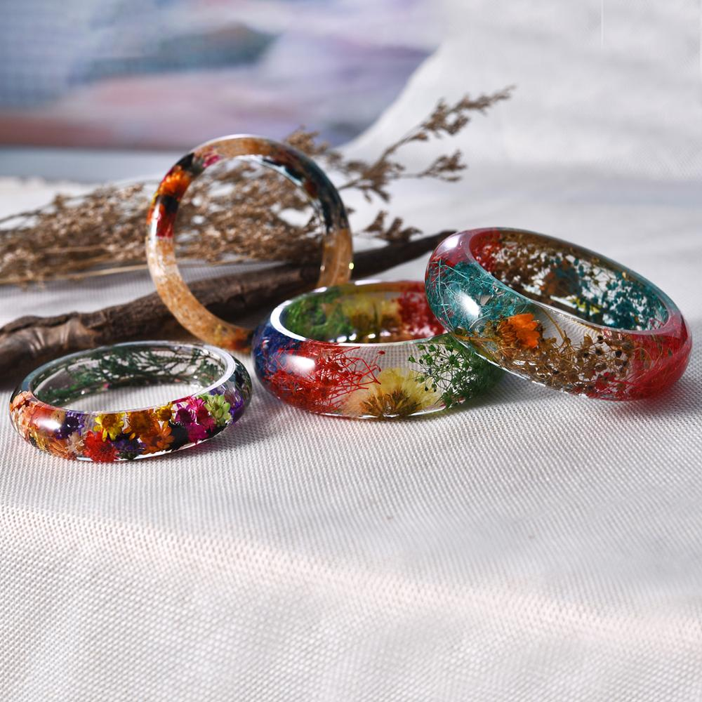 Women's customizable charm wide cuff resin bangle bracelet