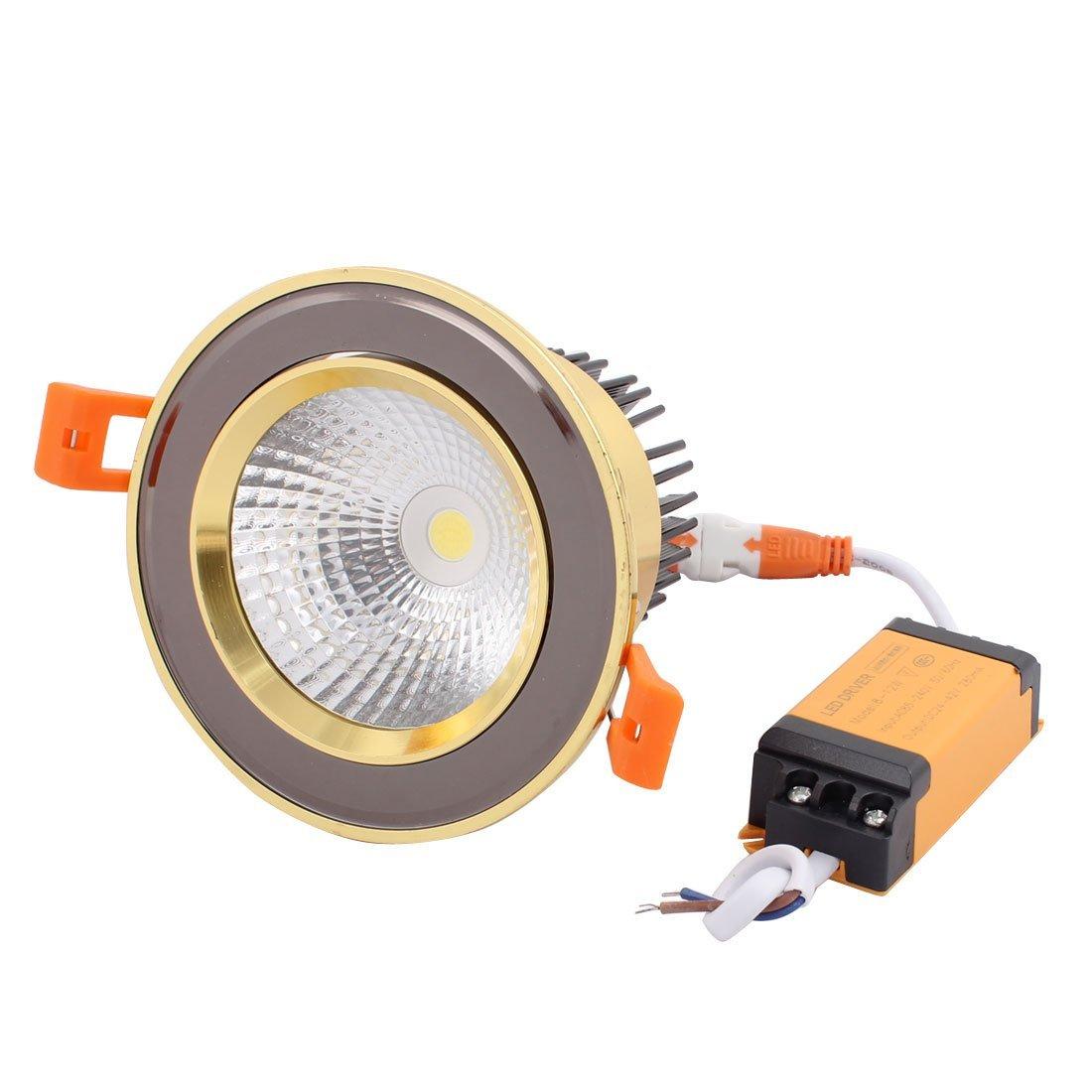 uxcell AC85-240V 12W 6000K 36 Degree LED Downlight Spotlight Recessed Lighting Fixture