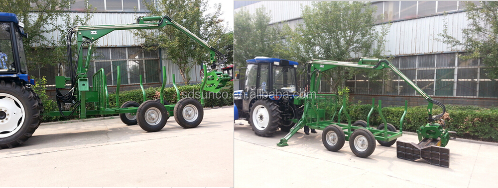 Tractor Mounting Log Trailer With Crane,Trailer Sale Price And ...