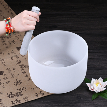 SUCCESS Factory Wholesale Price 6-24inch Frosted White Quartz Crystal Singing Bowl for Sound Healing