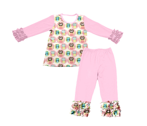 Fall Wholesale Long Sleeve Shirt Match Pants Clothing Set Baby Children Outfits Clothing clothing kids wear