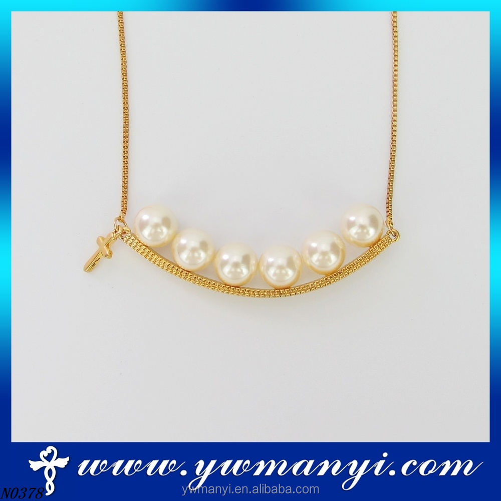 New Design Fashion Simple Pearl Necklace Designs Artificial Custom ...