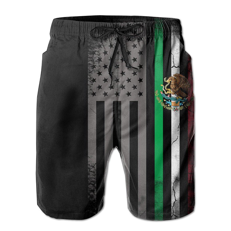e51ac87ddd ZQ-SOUTH Men's USA Mexico Flag Quick Dry Summer Beach Surfing Board Shorts  Swim Trunks