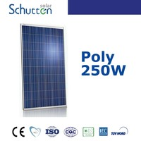 poly 250w high efficiency solar panel for schutten pakistan / india marketlight weight solar panel for 20kw solar panel system