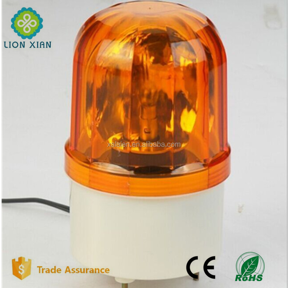car revolving flash warning light