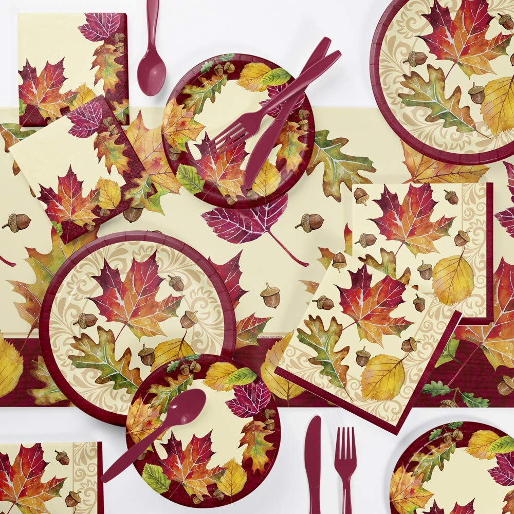 Fallen Leaves Thanksgiving Party Supplies Kit