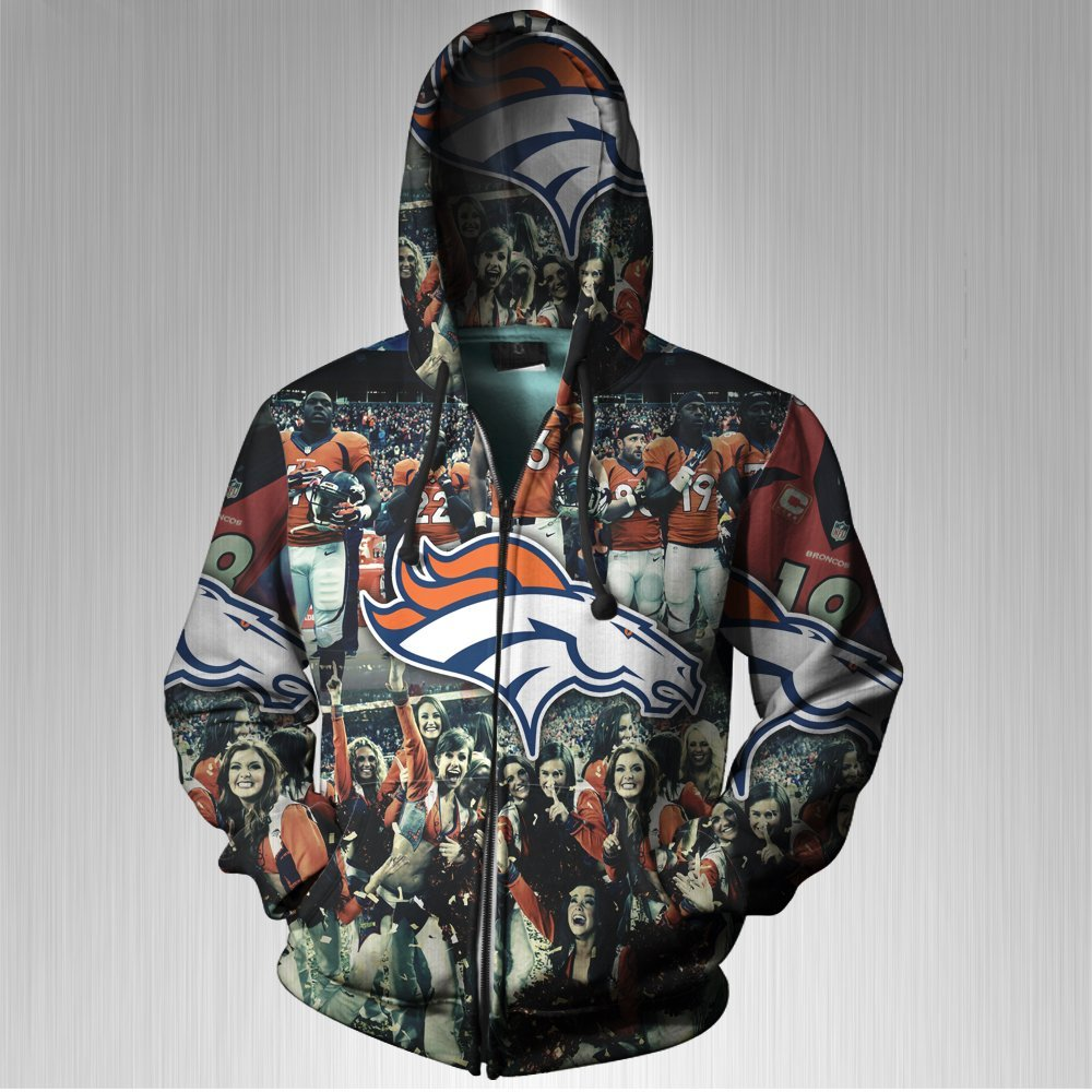 size 40 ddd01 db302 Buy Denver Broncos Men's print Sublimation Men Zipper ...