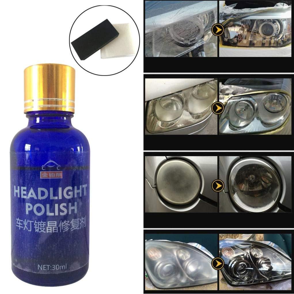 Vanvler Car Headlights Oxidation Liquid Ceramic Coat Super Hydrophobic Glass Coating (30ML, Blue)