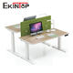 Electric 2 people legs adjustable height desk modern white melamine office desk