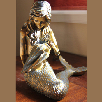 Life Size Bronze Mermaid Statue Metal Sculpture For Home And Garden Decoration