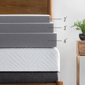 Bamboo Charcoal Mattress, Quality Bed Mattress Topper Plush Feel Ventilated for Optimum Temperature Certipur-US Certified
