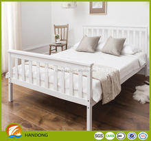 Antique white bedroom furniture solid wood folding double bed