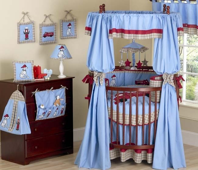 Frankie Fire 21 Pc Crib Round Bedding