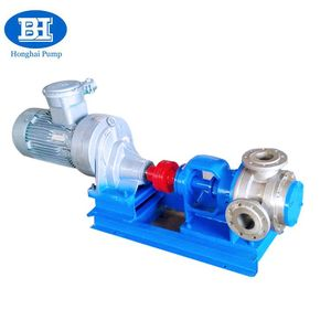 Gear drive electric hydraulic high viscosity liquid rotor internal gear pump