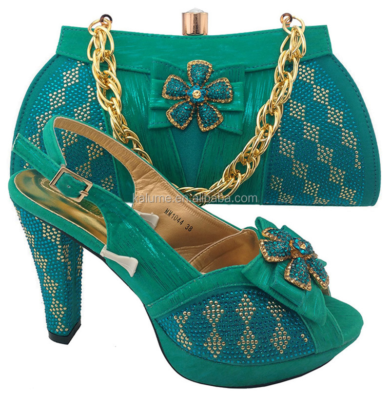 To Italian With Best Good Color Material Shoe Set Teal Italy Match For Shoe Selling Matching Bag Wedding And ladies MM1044 Bag qwwB0C