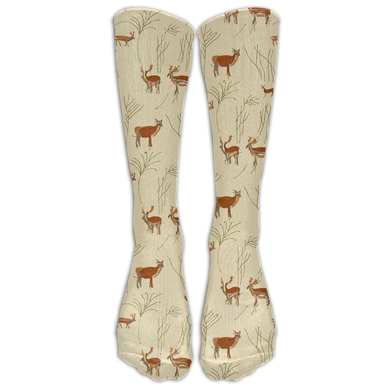 ac4870ff87bb50 Get Quotations · Girls Knee High Socks Fancy Merry Christmas Lucky Deer Elk  Reindeer Warm Cotton Socks Women Christmas