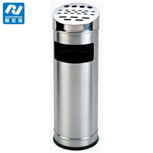 Wholesale stainless steel hotel lobby ashtray bin,ground ash barrel