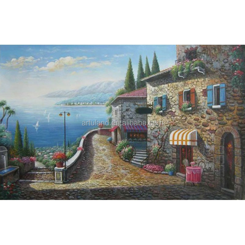 Popular Canvas Handmade Seascape oil painting On Canvas For Manufacturer