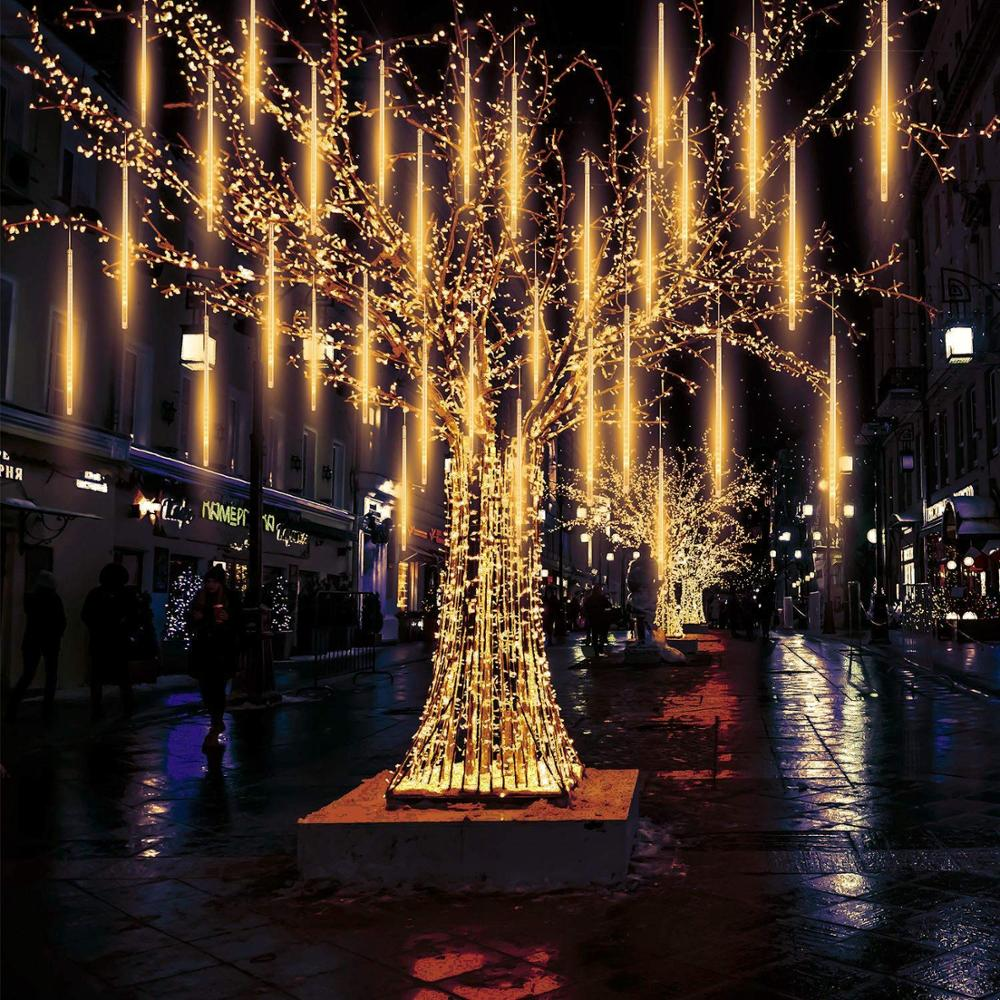Waterproof connectable  led meteor light 50cm 80cm 100cm outdoor christmas meteor shower lights for Party decoration