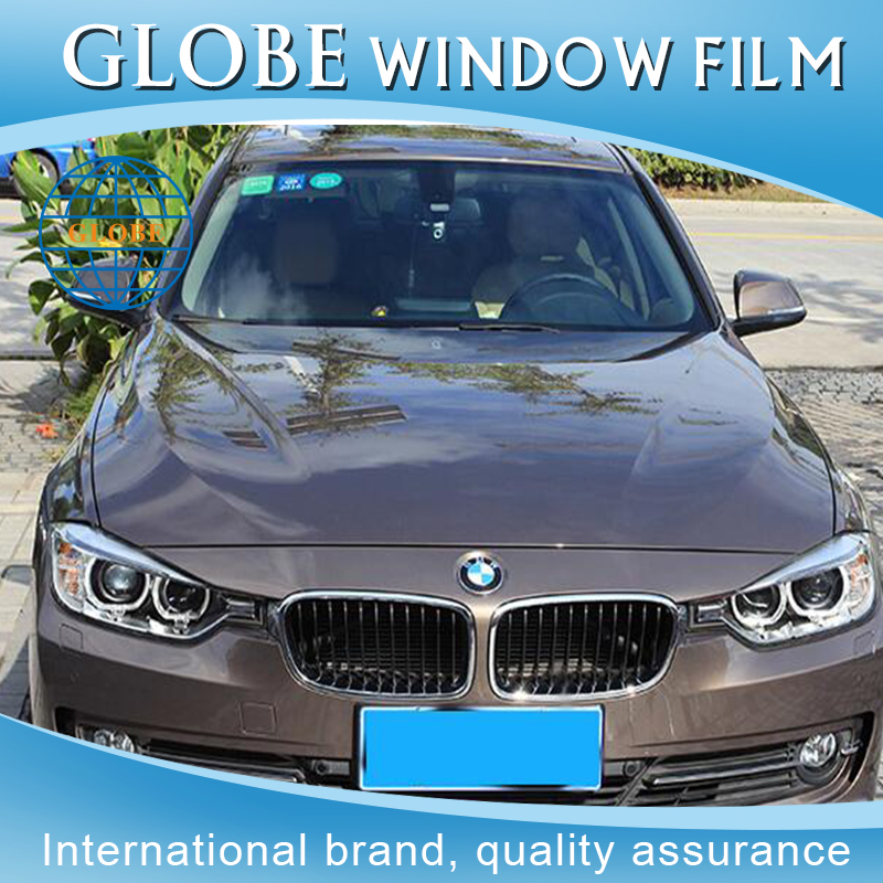 Huper optik heat resistant car tinted vivid blue llumar window film