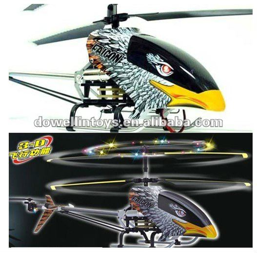 NEW 3-Channels Double Horse Eagle 9077 Electric RC Helicopter RTF w/ LED LIGHTS BALANCE BAR