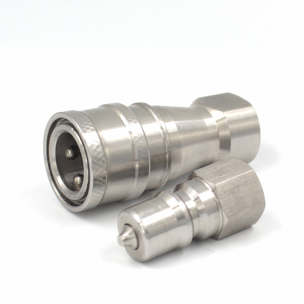 KZF 1/4 inch ISO 7241 series B stainless steel pneumatic quick disconnect <strong>fittings</strong> for carpet cleaning and water hose