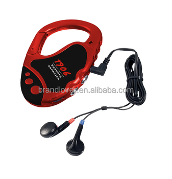 Mini  FM  Auto Scan Radio with Carabiner &Mountaineering Buckle
