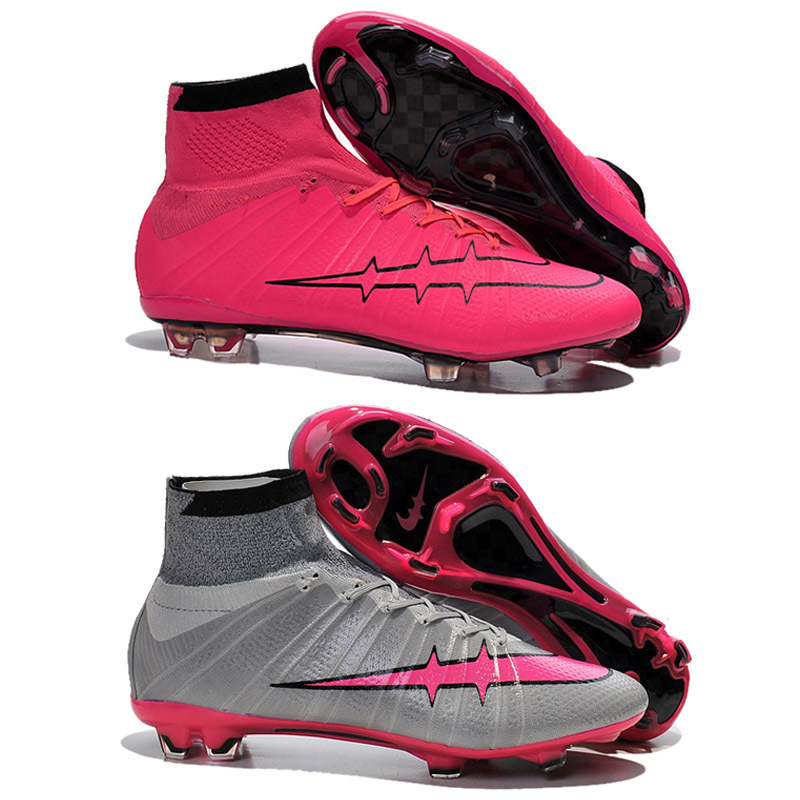 bd0a9fe8c7cc Get Quotations · Free Shipping Original 2015 Magista Superfly FG Soccer  Cleats CR7 Superfly Pink Grey Black Red Blue