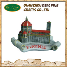 High Quality firenze Polyresin Miniature Building For Souvenir