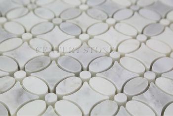 Oriental White Marble Flower Pattern Mosaic Tile Buy