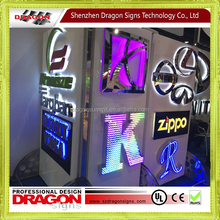 Customization stainless steel back light box outdoor LED displays